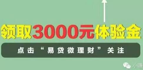 易贷微理财 注册最高送3万体验金,7天收益60元