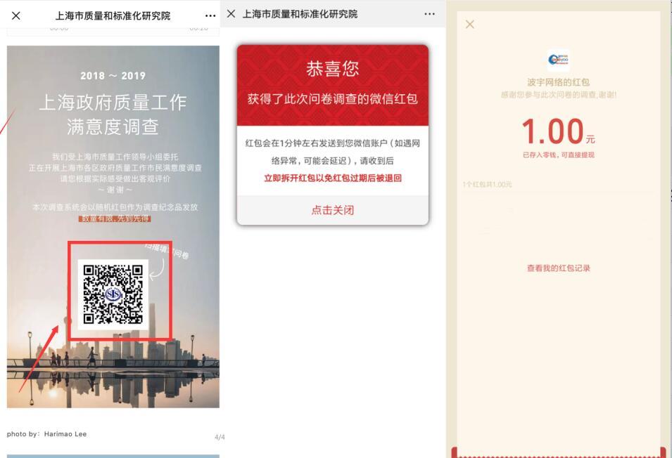 上海市质量和标准化研究院答题抽奖送1元微信红包 微信红包 活动线报  第3张