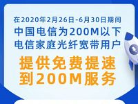 宽带提速为爱守护全国电信宽带免费提升200M 免费流量 活动线报  第1张